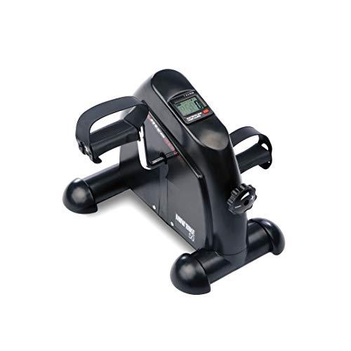 Ultrasport Minibicicleta para el entrenamiento de brazos y piernas, mini home trainer, con asa de transporte, niveles de resistencia ajustables, para principiantes, profesionales y mayores, Negro