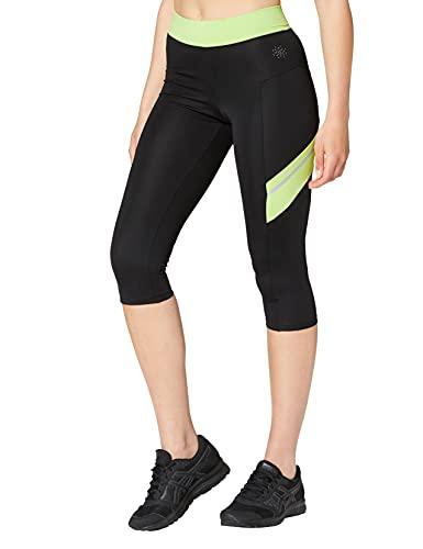 Marca Amazon - AURIQUE Contrast Panels BAL004, Mallas de entrenamiento Mujer, Multicolor...*