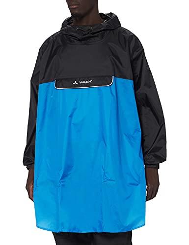 VAUDE Poncho Valero - Chubasquero de acampada y senderismo, Azul, XL*
