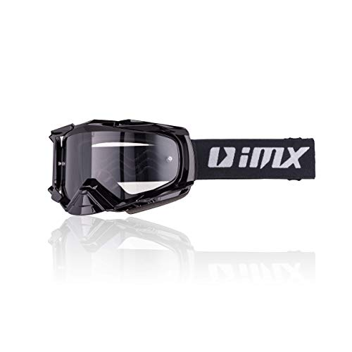 iMX Gafas DUST Ahumado oscuro y visera transparente, Lente antivaho y antirrayas, Protección de...*