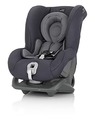 BRITAX RÖMER Silla Coche FIRST CLASS PLUS Instalación con Cinturón de Seguridad Niño de 0 a 18 kg Grupo 1 desde el Nacimiento hasta los 4 Años, Storm Grey