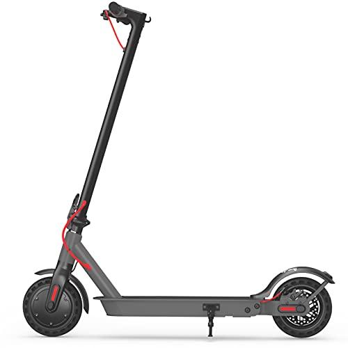 Hiboy Patinete Eléctrico S2 - Neumáticos sólidos de 8.5' - hasta 25 KM de Largo Alcance y 25 KM/H Scooter portátil Plegable para Adultos con Doble Sistema de frenado y aplicación