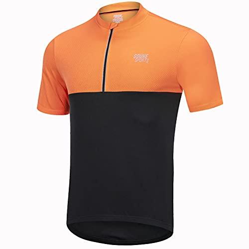 Souke Sports Maillot Ciclismo Hombre Verano Maillot Bicicleta Montaña Bike MTB Camiseta con Mangas Cortas