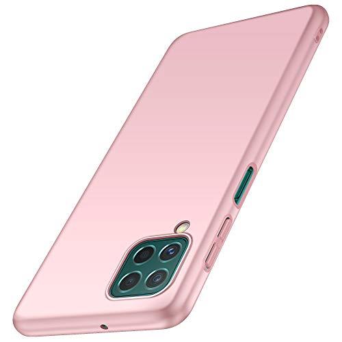 anccer Compatible con Samsung Galaxy F62 Funda [Serie Mate] Elástica Absorción de Choque y Ultra Delgada Diseño para Samsung Galaxy F62 (Oro Rosa)
