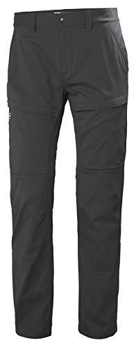 Helly Hansen Skar Aire Libre Hiking Excursionismo Pantalones con Estiramiento, Hombre, Gris (Ebony), 2XL