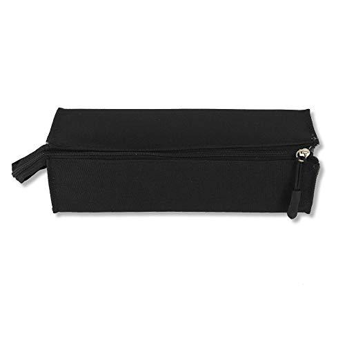 ESTUCHE ESCOLAR 1 CREMALLERA STARPLAST - Estuche de gran capacidad, con asa, cierre de cremallera, tela resistente, para uso escolar o de oficina - Negro