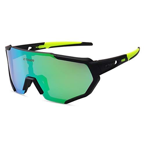 X-TIGER Gafas Ciclismo CE Certificación Polarizadas con 3 Lentes Intercambiables UV 400...*
