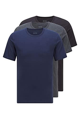 BOSS T-Shirt RN 3p Co Camiseta para Hombre, Azul (Open Blue 497), Medium, pack de 3*
