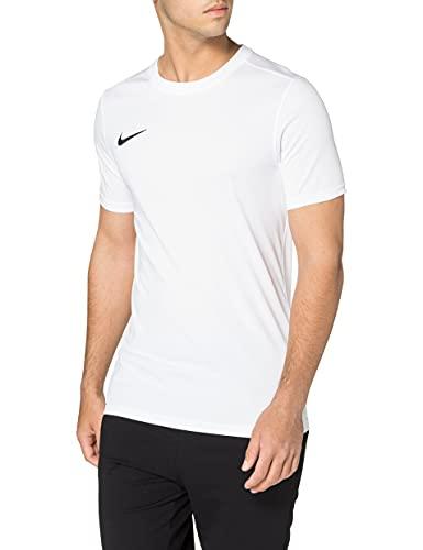 NIKE M Nk Dry Park VII JSY SS Camiseta de Manga Corta, Hombre, Blanco (White/Black)*