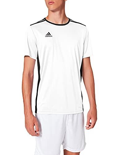 Adidas Entrada 18 JSY - Camiseta para Hombre, Blanco (White/ Black), M