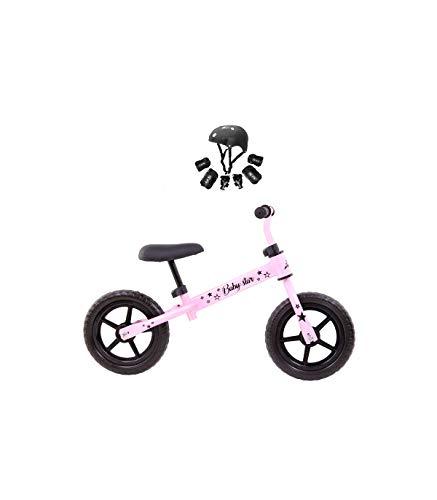 Grupo K-2 Bicicleta De Iniciación Sin Pedales para Niños con Cuadro de Acero Resistente con Manillar Ergonómico y Sillín Ajustable Rueda de 10' para Niños de 2 a 5 Años Rosa Chicle