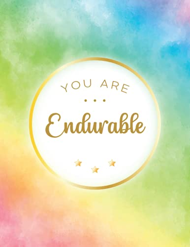 You Are Endurable: 500 Pages College Ruled Giant Notebook With Page Numbers And TOC   Inspirational...*