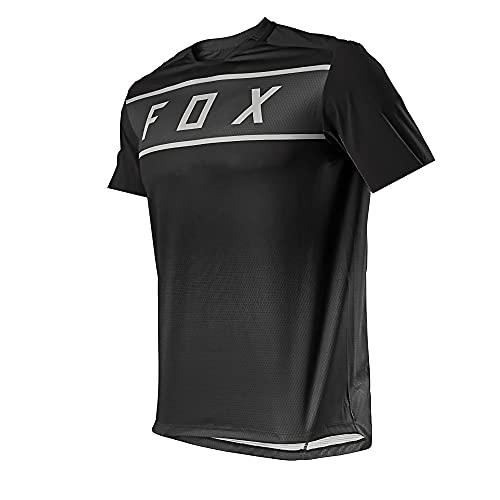 Jersey de MTB con Almohadillas, Camiseta de MTB de Enduro, Camiseta de MTB de Manga Larga, Equipo Hpit Fox Camiseta de Locomotora de Bicicleta MTB Offroad Dh MX Cross Country Mountain Bike, XL