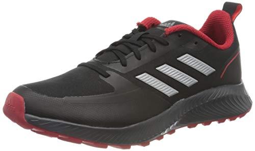 adidas Runfalcon 2.0 TR, Sneaker Hombre, Core Black/Silver Metallic/Grey, 43 1/3 EU