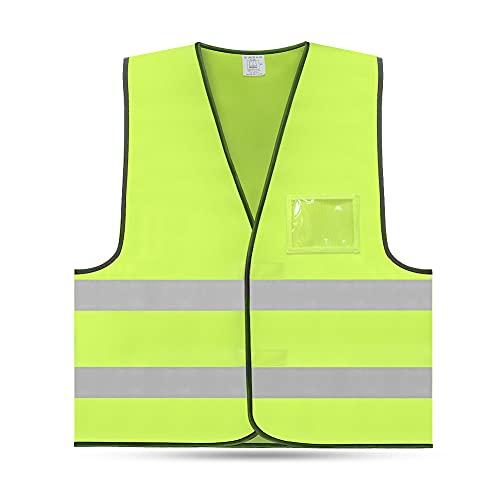 FEimaX Chaleco Reflectante de Alta Visibilidad Chaleco de Seguridad Ropa de Trabajo Set de Chaquetas Ajustable con ID Bolsillo Adecuado para Hombres y Mujeres