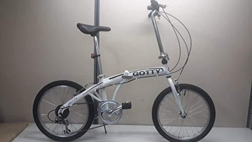 Gotty Bicicleta Plegable Camel, Acero 20\', Horquilla Acero Conificada, Manillar Plegable, Cierre Rápido en Sillín, Caballete
