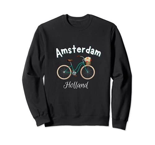 Amsterdam Camiseta Retro Holanda Bicicleta Holandesa Sudadera
