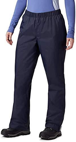BenBoy Pantalones Impermeables para Mujer Trekking Pantalones de la Lluvia de Respirable Montaña Escalada Senderismo Softshell YK5411W-Darkblue-S