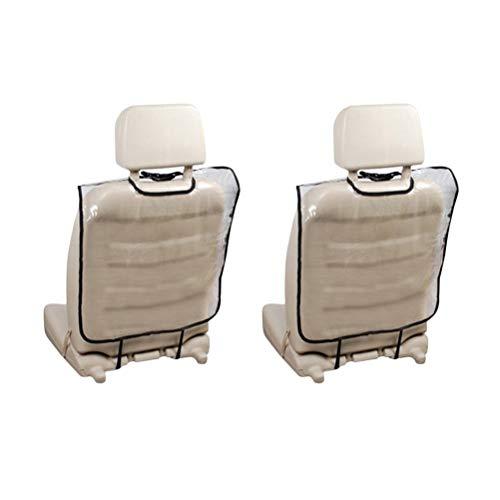 LIOOBO 2 unids Asiento de Coche Protector de Espalda Almohadillas Transparente Impermeable Anti-Patada Anti-Sucio Asiento de Coche Asiento Trasero Mat Protetctive Cubierta para niños Niños
