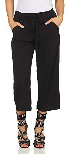 Only Onlwinner Palazzo Culotte Pant Wvn Pantalones, Black 74, 42 para Mujer*