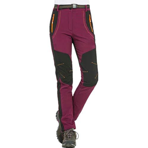 hibote Mujer Hombre al Aire Libre de Estiramiento de Fleece Forrada Senderismo Pantalones de...*
