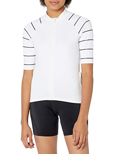 Amazon Essentials Short-Sleeve Cycling Jersey Camisa, Blanco, XS*