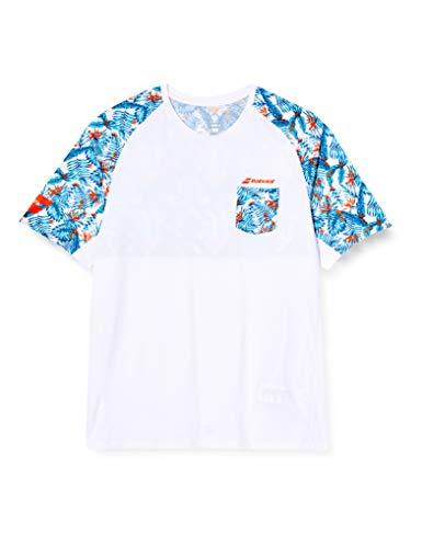 Babolat Capsule Crew Neck tee M Camiseta, Hombre, White/Flower, S