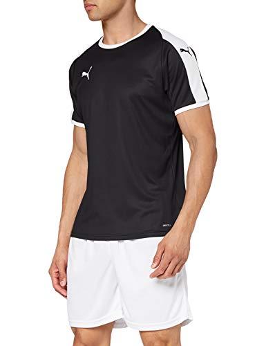 PUMA Liga Jersey T-Shirt, Hombre, Black White, M