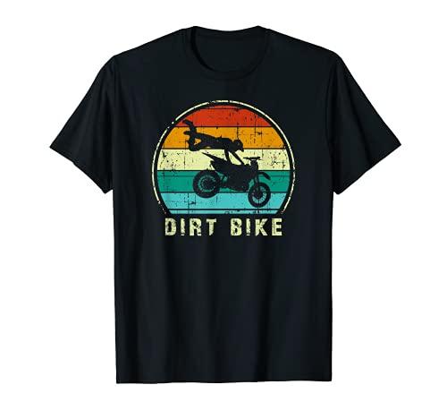 FMX Jinete Dirt Bike Motocross Bicicleta Retro Dirt Jump Camiseta