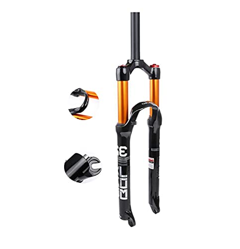 26 '' 27.5 '' 29 '' Horquilla Delantera para Bicicleta de montaña Carrera de amortiguación 120 mm Presión de Aire Horquilla amortiguadora Tubo Recto Hombro/Control del Cable
