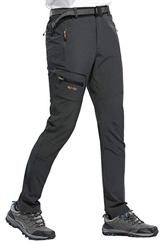 BenBoy Pantalon Montaña Hombre Secado Rápido Impermeable Pantalones Trekking Escalada Senderismo Acampada Transpirables y Ligeros,KZ1607M-Grey1-S