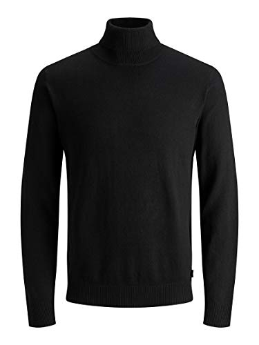 Jack & Jones Jjeemil Knit Roll Neck Noos Camiseta Cuello Alto, Negro (Black Black), XX-Large para...*