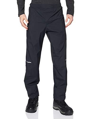Berghaus Regenhose Standard Leg Paclite Pants Pantalones para Caminar, Uomo, Black, M*