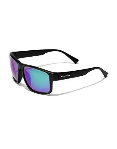 HAWKERS Faster Gafas de Sol, Negro/Verde polarizado, One Size Unisex Adulto*