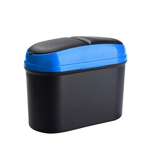 Mini Cubo De Basura Mini Cubo De Basura Para Coche Bote De Basura Con Suspensión Caja De Almacenamiento Para Coche Contenedor De Basura Con Doble Apertura Accesorios Para El Interior Del Coche Guante