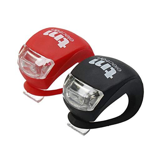 TM Electron TMTOR003 Set de luces LED frontal y trasera de silicona impermeable para bicicleta con 3...*