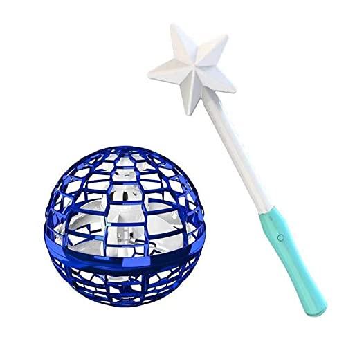 LKSDJ Juguetes de Bola voladora, Juguete de orbe Nebulosa Recargable Mejorado, Bola de orbe voladora Flotante mágica Fresca, Juguete de orbe Nebulosa Mejorado 2021 para niños (Blue+Magic Wand)