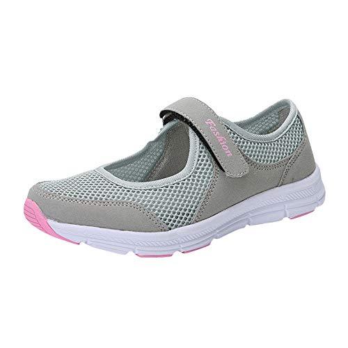 Zapatos Malla de Mujer de Velcro Deportivo de Calzado Casual Ligero Aire Libre y Deporte...*