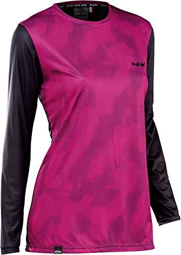 Northwave Edge 2021 - Maillot de ciclismo para mujer, talla XL (42), color negro y rosa