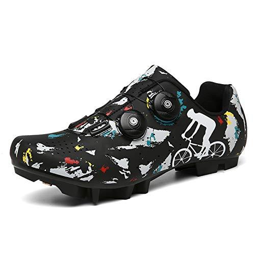 Zapatillas Ciclismo MTB para Hombre Mujer Zapatillas Bicicleta de Montaña Zapatillas Ciclismo...*