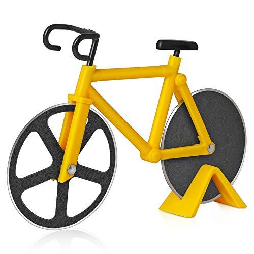 Asdirne Cortador de Pizza, Cortador de Pizza para Bicicleta, con Hoja de Acero Inoxidable con...*