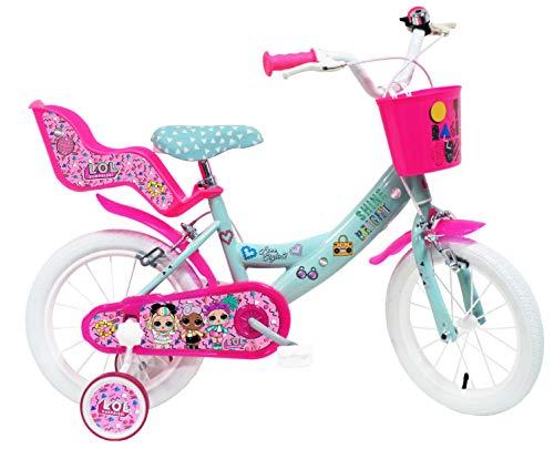 Denver Bike 14 Lol bicicletta Ciudad 35,6 cm (14') Acero Rosa, Turquesa, Blanco Niñas - Bicicleta (Vertical, Ciudad, 35,6 cm (14'), Acero, Rosa, Turquesa, Blanco, 35,6 cm (14'))