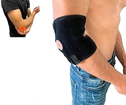 Codera epicondilitis - codera para tendinitis ajustable, transpirable - codo de tenista epicondilitis - codera para el gym - codera deportiva - codera con estabilizadores para lesiones deportivas
