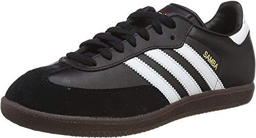 adidas Originals Samba Leather, Zapatillas de Fútbol Hombre, Negro Black Running White, 38 EU