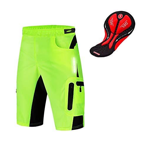 WOSAWE Pantalones Cortos de Ciclismo para Hombre Transpirable Gel 3D Acolchada Sueltos MTB Ropa...*
