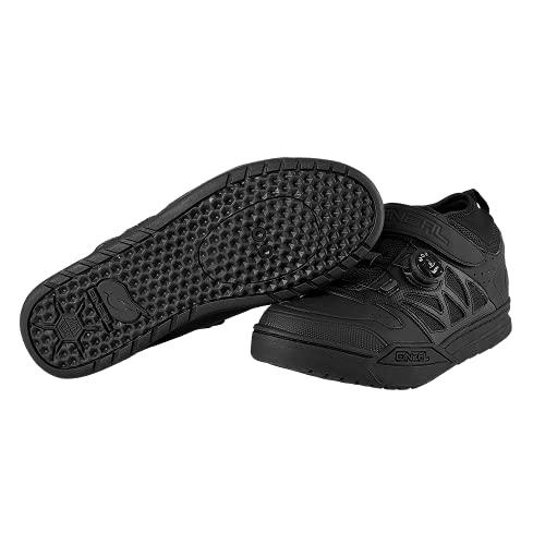 O'NEAL   Zapatilla de Ciclismo   MTB Downhill Freeride   Suela Compatible con la Placa del Pedal SPD, Sistema de Encaje rápido   Zapatilla SPD de sesión Unisex   Adultos   Negro   Talla 42