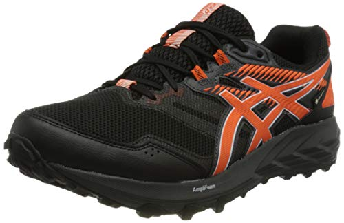 Asics Gel-Sonoma 6 G-TX, Trail Running Shoe Hombre, Black/Marigold Orange, 43.5 EU
