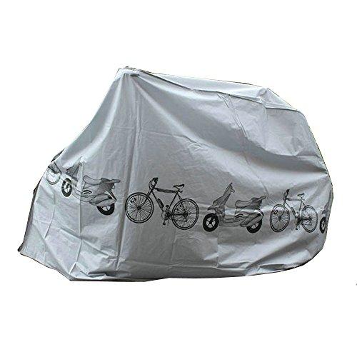 Yizhet Funda Bicicleta, Funda para Bicic Impermeable Funda de Protección Cubre Bicicleta Funda Bici Exterior y Interior Contra Lluvia, UV, Polvo, Nieve para Bicicleta Montaña, Carretera (200x100cm)