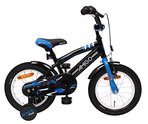 Amigo BMX Fun - Bicicleta Infantil de 14 Pulgadas - para niños de 3 a 4 años - con V-Brake, Freno...*