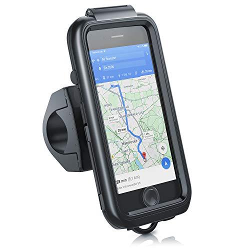 aplic - Soporte de móvil para Bicicleta - Funda Protectora Compatible con iPhone 6/7/8/SE Gen2 - Impermeable - Fácil de Usar - Fijación Segura - Rotación 360° - A Prueba de Golpes Lluvia Polvo